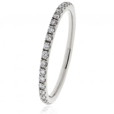 Petite Diamond Full Eternity Ring 0.30ct, 18k White Gold