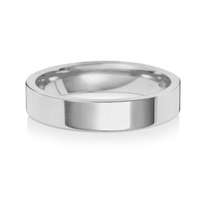 Platinum Wedding Ring Flat Court, 4mm