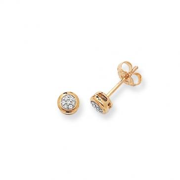 Diamond Stud Earrings 0.06ct, 9k Gold