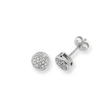 Diamond Stud Earrings 0.17ct, 9k White Gold