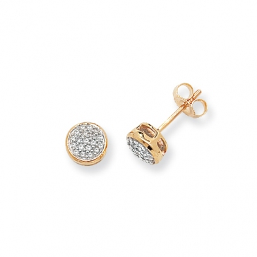 Diamond Stud Earrings 0.17ct, 9k Gold