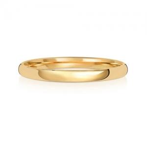 Wedding Ring Court Shape, 9k Gold 2mm