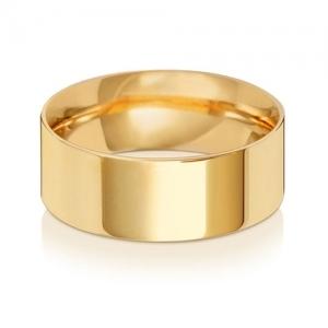 8mm Wedding Ring Flat Court 9k Gold, Medium