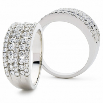 Diamond Channel Set Half Eternity Ring 1.15ct, 18k White Gold