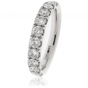 Diamond Half Eternity Ring 1.00ct in Platinum