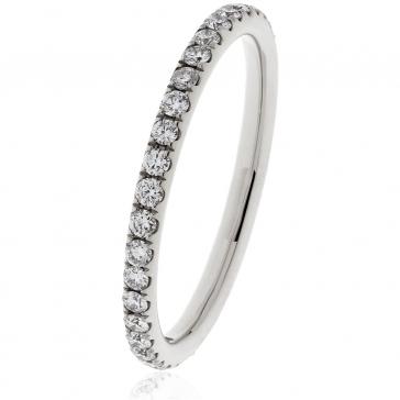 Petite Diamond Full Eternity Ring 0.40ct, 18k White Gold
