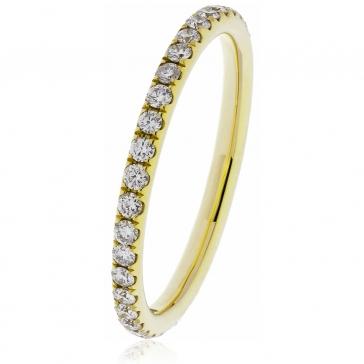 Petite Diamond Full Eternity Ring 0.40ct, 18k Gold
