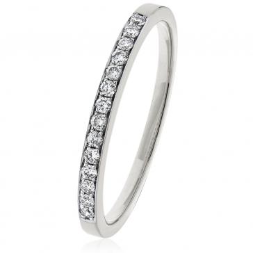 Diamond Half Eternity Ring 0.20ct, 18k White Gold