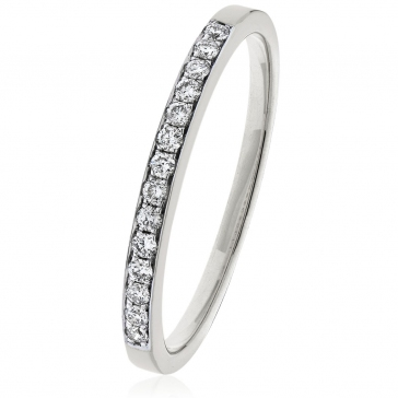 Diamond Half Eternity Ring 0.15ct, 9k White Gold