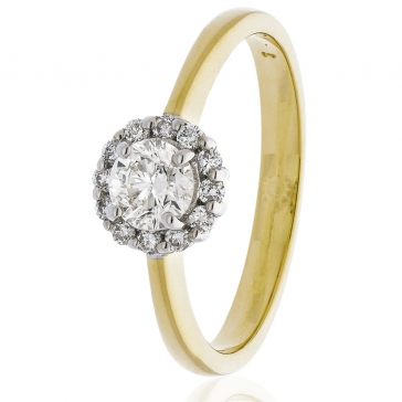 Diamond Engagement Ring 0.55ct, 18k Gold