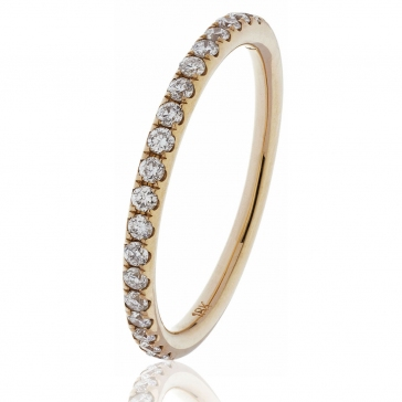 Diamond Half Eternity Ring 0.25ct, 18k Rose Gold