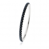 Petite Black Diamond Full Eternity Ring 0.35ct, 18k White Gold