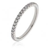 Diamond Full Eternity Ring 0.50ct in Platinum