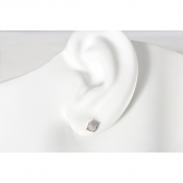 Diamond Illusion Set Stud Earrings 0.10ct, 9k White Gold