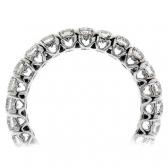 Diamond Eternity Heart Ring 2.00ct, 18k White Gold