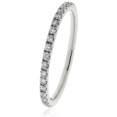 Petite Diamond Full Eternity Ring 0.30ct, Platinum