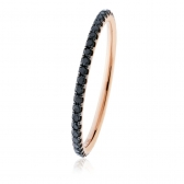 Petite Black Diamond Full Eternity Ring 0.30ct, 18k Rose Gold