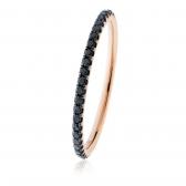 Petite Black Diamond Full Eternity Ring 0.30ct, 18k Rose Gold