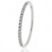 Diamond Half Eternity Ring 0.15ct in Platinum, 1.7mm