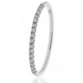 Diamond Half Eternity Ring 0.15ct. 18k White Gold, 1.7mm