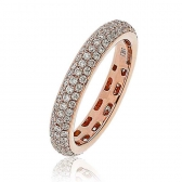Diamond Pave Full Eternity Ring 1.00ct, 18k Rose Gold