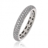 Diamond Pave Full Eternity Ring 1.00ct, 18k White Gold