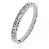 Diamond Princess Half Eternity Ring 0.25ct, 18k White Gold