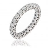 Diamond Eternity Heart Ring 2.00ct G/VS2, 18k White Gold