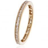 Diamond Full Eternity Ring Channel Set 0.50ct, 18k Rose Gold