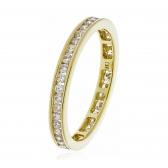 Diamond Full Eternity Ring Channel Set 0.80ct, 18k Gold