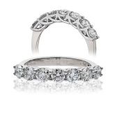 Diamond Seven Stone Ring 0.75ct. 18k White Gold