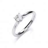 Diamond Solitaire Engagement Ring 0.50ct. G/VS2, 18k White Gold