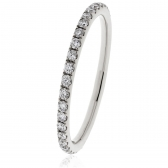 Petite Diamond Full Eternity Ring 0.30ct, 18k White Gold