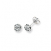 Diamond Stud Earrings 0.11ct, 9k White Gold