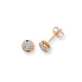 Diamond Stud Earrings 0.11ct, 9k Gold