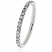 Petite Diamond Full Eternity Ring 0.40ct, 18k White Gold