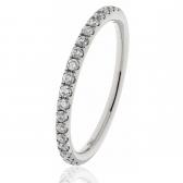 Diamond Half Eternity Ring 0.25ct in Platinum