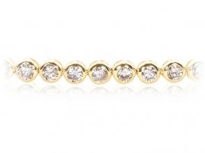Diamond Tennis Bracelet 3.00ct, 18k Gold G/SI1