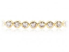 Diamond Tennis Bracelet 4.00ct, 18k Gold G/SI1