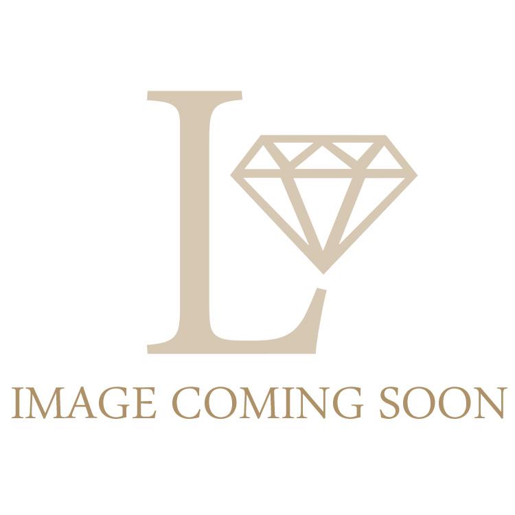 Petite Diamond Oval Engagement Ring 0.15ct, 18k White Gold