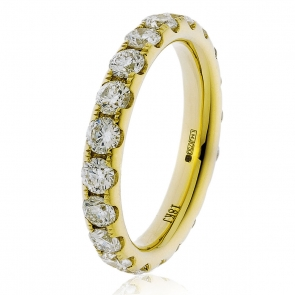 3.20ct Diamond Full Eternity Ring (3.8mm) 18k Gold