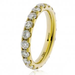 3.20ct Diamond Full Eternity Ring (3.8mm) 18k Gold