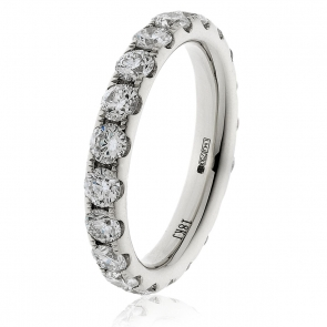 3.20ct Diamond Full Eternity Ring (3.8mm) 18k White Gold