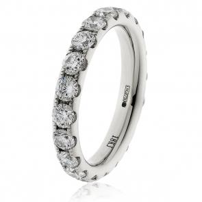 3.20ct Diamond Full Eternity Ring (3.8mm) 18k White Gold
