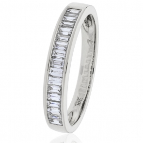 Diamond Baguette Half Eternity Ring 0.50ct in Platinum