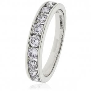Diamond Half Eternity Ring 0.80ct, Platinum