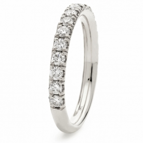 Diamond 60% Eternity Ring 0.65ct, 18k White Gold