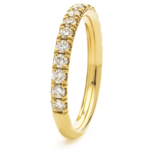 Diamond 60% Eternity Ring 0.65ct, 18k Gold