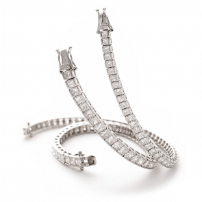 Diamond Princess Bracelet 3.50ct up to 13.50ct, White Gold