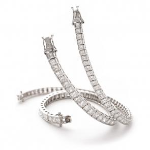 Diamond Princess Bracelet 3.50ct up to 13.50ct, White Gold